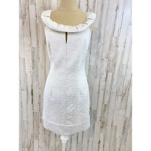 Max and Cleo cream & Silver textured dress size 10